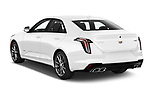 Car pictures of rear three quarter view of 2020 Cadillac CT4-V V-Series 4 Door Sedan Angular Rear