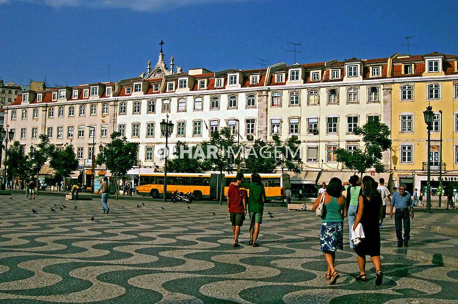 Praça do Rocio em Lisboa. Portugal. 2005. Foto de Rogério Reis.