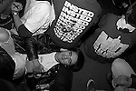 Insted at Gilman Street. Guy laying down, surrounded by straightedge<br />