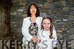 Saoirse Daly from Tralee receiving her First Holy Communion on Saturday in St Johns Church with her mother Joanne Daly.