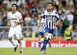 Real Madrid's Sami Khedira against Deportivo de La Coruna's Abel Aguilar during La Liga match. September 30, 2012. (ALTERPHOTOS/Alvaro Hernandez).