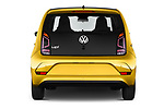 Straight rear view of 2017 Volkswagen UP Move-up 5 Door Hatchback Rear View  stock images