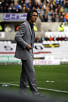 ATTENTION SPORTS PICTURE DESK<br /> Pictured: Paulo Sousa Manager of Swansea City in action<br /> Re: Coca Cola Championship, Swansea City Football Club v Cardiff City FC at the Liberty Stadium, Swansea, south Wales. Saturday 07 November 2009