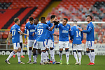 13.12.2020 Dundee Utd v Rangers: James Tavernier celebrates his goal for Rangers