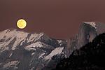 Yosemite Valley during February Full Moon