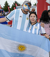 Houston, TX - Tuesday June 21, 2016: Fans prior to a Copa America Centenario semifinal match between United States (USA) and Argentina (ARG) at NRG Stadium.