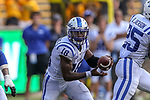 Duke Blue Devils quarterback Quentin Harris (18) in action before the game between the Duke Blue Devils and the Baylor Bears at the McLane Stadium in Waco, Texas.