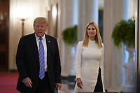 United States President Donald J. Trump, left, and First Daughter and Advisor to the President Ivanka Trump arrive at the American Workforce Policy Advisory Board Meeting at the White House in Washington, DC on Friday, June 26, 2020. <br /> Credit: Chris Kleponis / Pool via CNP/AdMedia