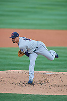 Tacoma Rainiers starting pitcher Justus Sheffield (10) delivers a pitch to the plate against the Salt Lake Bees at Smith's Ballpark on May 27, 2019 in Salt Lake City, Utah. The Bees defeated the Rainiers 5-0. (Stephen Smith/Four Seam Images)