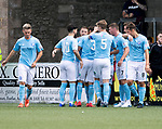 Forfar v St Johnstone…28.07.18…  Station Park    Betfred Cup<br />John Baird celebrates his goal<br />Picture by Graeme Hart. <br />Copyright Perthshire Picture Agency<br />Tel: 01738 623350  Mobile: 07990 594431