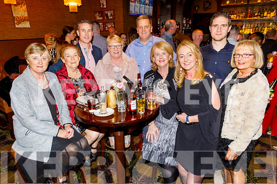 enjoying the Ballygarry House Hotel Christmas Party in the Rose Hotel on Sunday. Front l to r: Sheila Hanafin, Peggy Carroll, Breda O'Leary, Margaret Enright, Carmel McGuillicuddy and Noreen Casey. Back: Padraig McGuillicuddy, Thys Vogels and Tagdh McGuillicuddy.