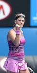 Victoria Azarenka (BLR) defeats Sloane Stephens (USA) 6-3, 6-2 at the Australian Open in Melbourne, Australia on January 20, 2014