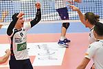 30.03.2019,  Lueneburg GER, VBL, Playoff-Viertelfinale, SVG Lueneburg vs United Volleys Frankfurt im Bild  die Lueneburger Mannschaft jubelt Foto © nordphoto / Witke