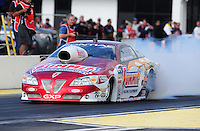 Mar. 12, 2012; Gainesville, FL, USA; NHRA pro stock driver Greg Anderson during the Gatornationals at Auto Plus Raceway at Gainesville. The race is being completed on Monday after rain on Sunday. Mandatory Credit: Mark J. Rebilas-