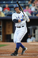 Ryan Shealy #44  First Baseman Durham Bulls (Rays) May 7, 2010 Photo By Tony Farlow/Four Seam Images