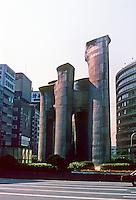 Osaka: Sculpture next to Railway Station. Photo '82.