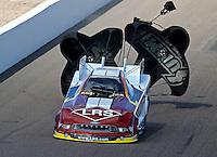 Feb. 24, 2013; Chandler, AZ, USA; NHRA funny car driver Tim Wilkerson during the Arizona Nationals at Firebird International Raceway. Mandatory Credit: Mark J. Rebilas-