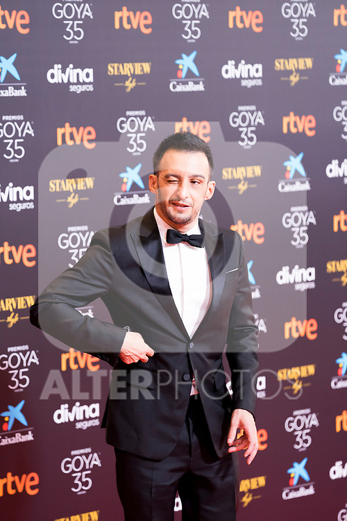 Film director Alejandro Amenabar attends the red carpet previous to Goya Awards 2021 Gala in Malaga . March 06, 2021. (Alterphotos/Francis González)
