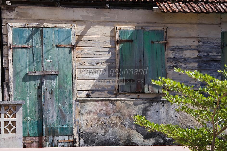 France/DOM/Martinique/Grand-Rivière : Détail habitat créole traditionnel