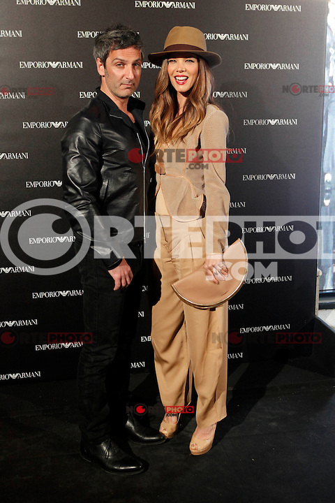 Ernesto Alterio and Juana Acosta attends the Emporio Armani Boutique opening at Serrano street in Madrid, Spain. April 08, 2013. (ALTERPHOTOS/Caro Marin) /NortePhoto