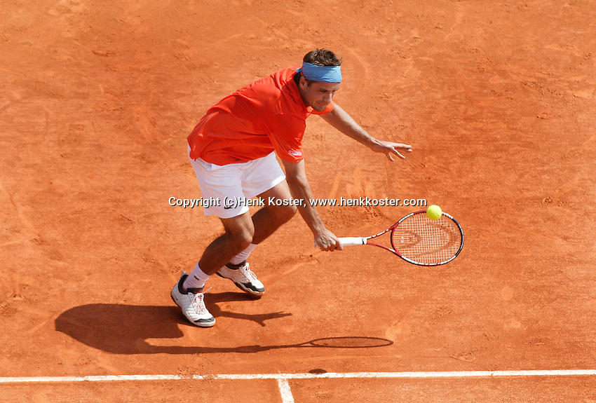 18-4-06, Monaco, Tennis,Master Series, Clement in action against Nadal