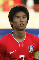 South Korea's Ja Cheol Koo (7) stands on the field before the FIFA Under 20 World Cup Quarter-final match between Ghana and South Korea at the Mubarak Stadium  in Suez, Egypt, on October 09, 2009.
