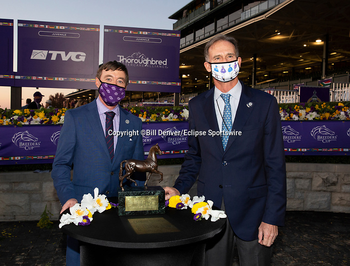 November 6, 2020: Breeders Award, TVG Juvenile Presented By Thoroughbred Aftercare Alliance on Breeders' Cup Championship Friday at Keeneland on November 6, 2020: in Lexington, Kentucky. Bill Denver/Breeders' Cup/Eclipse Sportswire/CSM