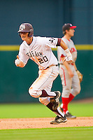 Adam Smith #20 of the Texas A&M Aggies takes off for third base against the Utah Utes at Minute Maid Park on March 4, 2011 in Houston, Texas.  Photo by Brian Westerholt / Four Seam Images