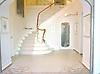 Custom Art Nouveau foyer floor in Travertine White, Renaissance Bronze, Crema Marfil, Red Lake, Aegean Brown, Rosa Verona, Giallo Reale, Breccia Pernice