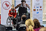 MONTREAL, QC - APRIL 29:  Cindy Ouellet addresses the guests during the 2017 Montreal Paralympian Search at Complexe sportif Claude-Robillard. Photo: Minas Panagiotakis/Canadian Paralympic Committee
