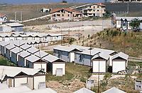 - September 1990, Irpinia reconstruction after the earthquake of 1980, installation of prefabricated houses in Bisaccia<br /> <br /> - settembre 1990, ricostruzione in Irpinia dopo il terremoto del 1980, insediamento di case prefabbricate a Bisaccia