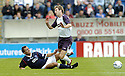 22/07/2007       Copyright Pic: James Stewart.File Name : sct_jspa16_falkirk_v_rangers.ALEX TOTTEN TESTIMONIAL.KIRK BROADFOOT IS CAUGHT LATE BY ARNAU RIERA....James Stewart Photo Agency 19 Carronlea Drive, Falkirk. FK2 8DN      Vat Reg No. 607 6932 25.Office     : +44 (0)1324 570906     .Mobile   : +44 (0)7721 416997.Fax         : +44 (0)1324 570906.E-mail  :  jim@jspa.co.uk.If you require further information then contact Jim Stewart on any of the numbers above.........