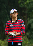 Min-Sun Kim of Korea looks on during the Hyundai China Ladies Open 2014 on December 10 2014 at Mission Hills Shenzhen, in Shenzhen, China. Photo by Xaume Olleros / Power Sport Images