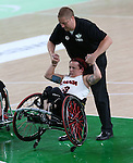 Jamey Jewells, Rio 2016 - Wheelchair Basketball // Basketball en fauteuil roulant.<br /> Canada vs. China in women's Wheelchair Basketball  // Le Canada contre la Chine en  basketball en fauteuil roulant féminin . 16/09/2016.