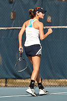 SAN ANTONIO, TX - FEBRUARY 13, 2015: The University of South Alabama Jaguars defeat the University of Texas at San Antonio Roadrunners 5-2 at the UTSA Tennis Center. (Photo by Jeff Huehn)