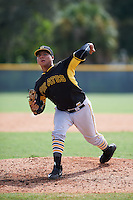 Pittsburgh Pirates Nestor Oronel (47) during an instructional league intrasquad black and gold game on September 23, 2015 at Pirate City in Bradenton, Florida.  (Mike Janes/Four Seam Images)
