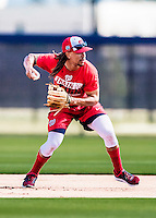 27 February 2017: Washington Nationals infielder Emmanuel Burriss practices infield drills during a Spring Training workout at the Ballpark of the Palm Beaches in West Palm Beach, Florida. Mandatory Credit: Ed Wolfstein Photo *** RAW (NEF) Image File Available ***