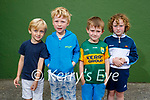 Junior infants in Scoil Dun Caoin NS on Tuesday. L to r: Oscar Ó Riain, Lughán Mac Eoghain, Tommaí Ó Cearna and Fionn Ó hAiniféin.