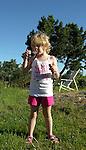 Child Enjoying Bubbles on Island of Kökar, Åland, Finland