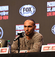 LAS VEGAS - JULY 17: Keith Thurman attends the final press conference for the PBC on Fox Sports Pay-Per-View at the MGM Grand on July 17, 2019 in Las Vegas, Nevada. (Photo by Frank Micelotta/Fox Sports/PictureGroup)