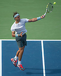 Rafael Nadal (ESP) defeats Ivan Dodig (CRO) 6-4, 6-3, 6-3 at the US Open being played at USTA Billie Jean King National Tennis Center in Flushing, NY on August 31, 2013