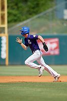 Connor Simon (13) of Saint Paul's School in Mandeville, LA during the Perfect Game National Showcase at Hoover Metropolitan Stadium on June 20, 2020 in Hoover, Alabama. (Mike Janes/Four Seam Images)
