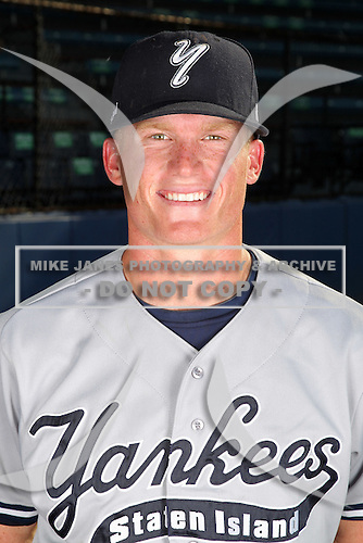 Staten Island Yankees Nick McCoy poses for a photo before a game vs. the Jamestown Jammers at Russell Diethrick Park in Jamestown Jammers, New York July 15, 2010.   Jamestown defeated Staten Island 5-1.  Photo By Mike Janes/Four Seam Images