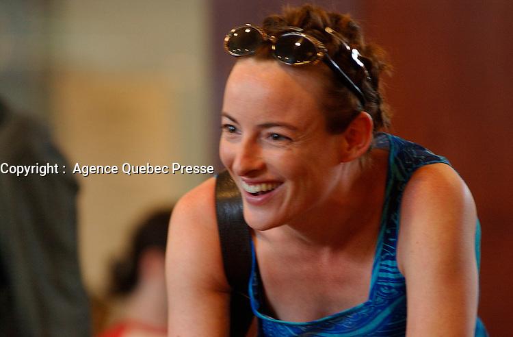 Pascale Bussiere au  Festival des Films du Monde, aout 2001<br /> <br /> PHOTO : <br />  - Agence Quebec Presse<br /> <br /> NOTE : Les ajustements finaux, recadrage et retouche des poussieres seont effectuées sur les images commandées.