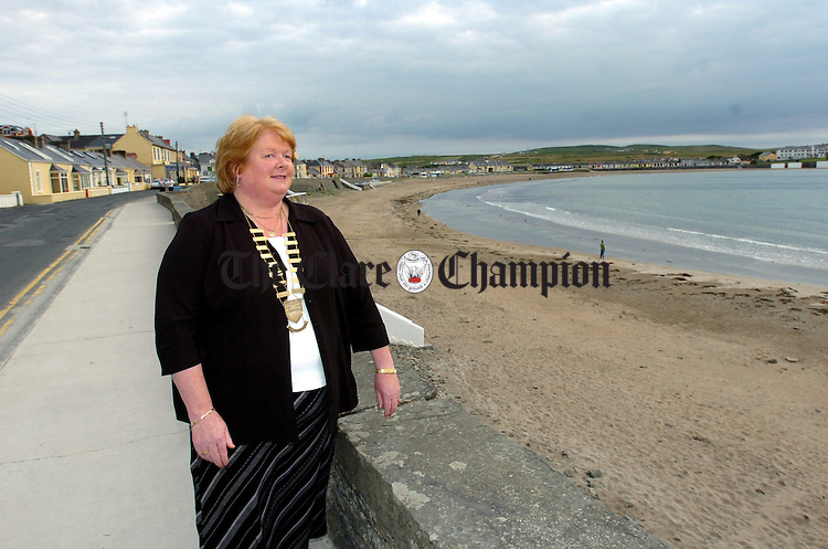 The newly elected mayor of Kilkee Claire Haugh. Photograph by John Kelly.