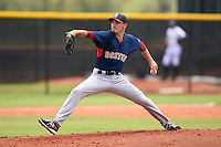 GCL Red Sox pitcher Javier Rodriguez (10) delivers a pitch during a game against the GCL Rays on June 24, 2014 at Charlotte Sports Park in Port Charlotte, Florida.  GCL Red Sox defeated the GCL Rays 5-3.  (Mike Janes/Four Seam Images)