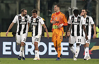 Calcio, Serie A: Fiorentina - Juventus, stadio Artemio Franchi Firenze 1 dicembre 2018.<br /> Juventus' players celebrate after winning 3-0 the Italian Serie A football match between Fiorentina and Juventus at Florence's Artemio Franchi stadium, December 1, 2018.<br /> UPDATE IMAGES PRESS/Isabella Bonotto