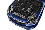 Car Stock 2018 Mercedes Benz C-Class C-300 2 Door Convertible Engine  high angle detail view