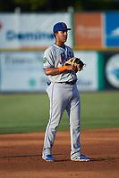 Kingsport Mets third baseman Mark Vientos (13) on defense against the Burlington Royals at Burlington Athletic Stadium on July 27, 2018 in Burlington, North Carolina. The Mets defeated the Royals 8-0.  (Brian Westerholt/Four Seam Images)