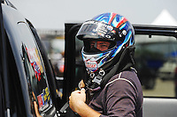 Jul, 10, 2011; Joliet, IL, USA: NHRA top fuel dragster driver Shawn Langdon during the Route 66 Nationals at Route 66 Raceway. Mandatory Credit: Mark J. Rebilas-